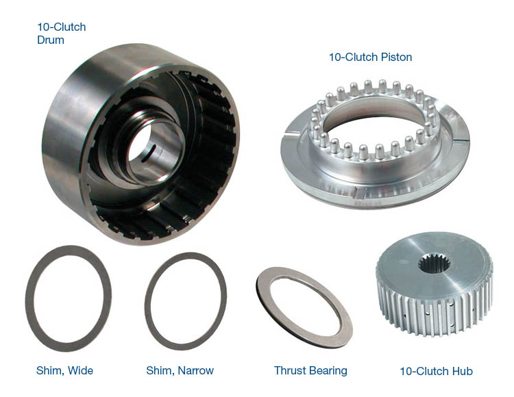 10-Clutch Drum, Hub & Piston Kit with Bearing