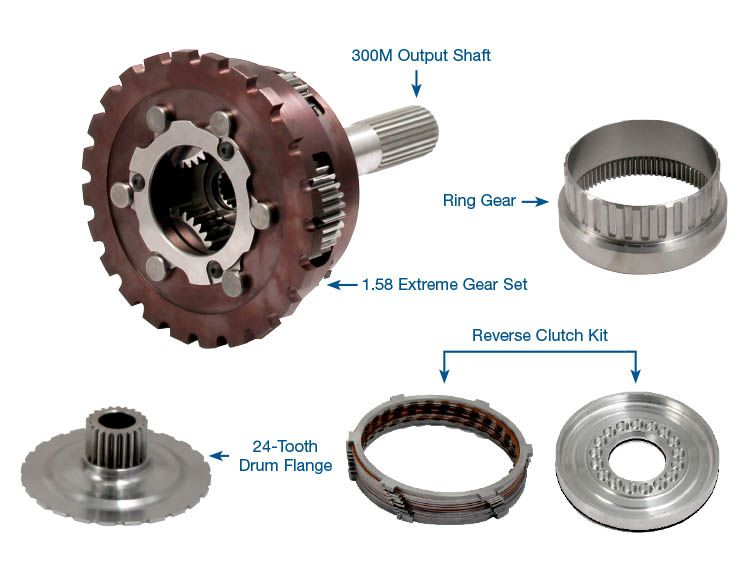Powerglide Extreme Planetary Carrier Assembly & Output Shaft