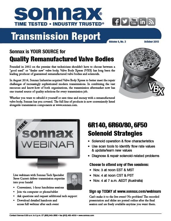 October Transmission Report Newsletter Just Released!