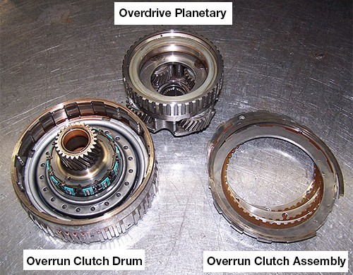 4l80 e overrun clutch drum components