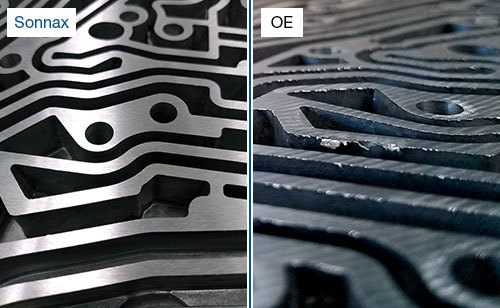 RFE Transmission Channel Casting: Sonnax Resurfaced vs. Typical OE
