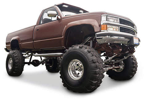 Truck with Oversized Tires