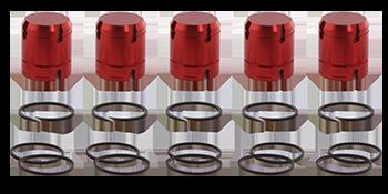 5-Piece Piston Kit: Part No. 44894-01MK