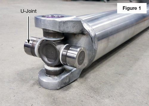 U-Joint Installed on a One-Piece Driveshaft