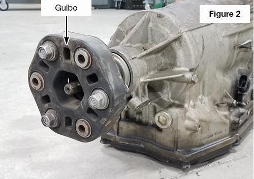 Guibo Joint Installed on Transmission