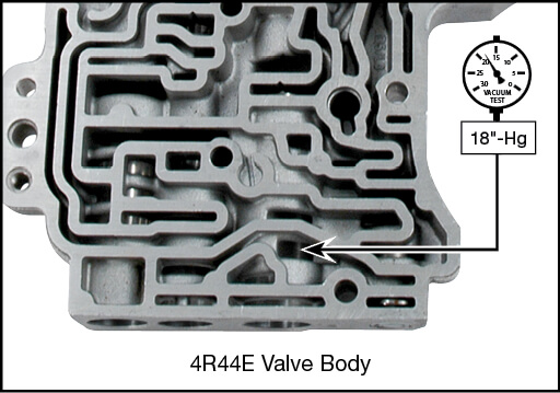 4R44E, 4R55E, 5R44E, 5R55E Boost Valve Kit Vacuum Test Locations