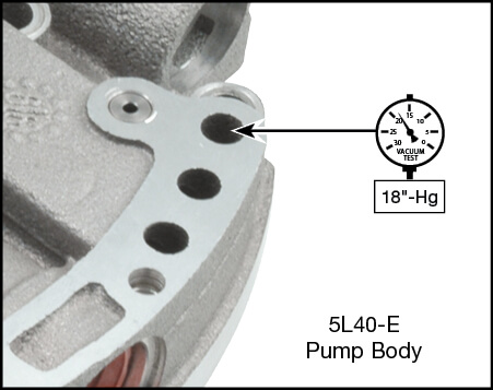5L40-E, 5L50-E Boost Valve Kit Vacuum Test Locations