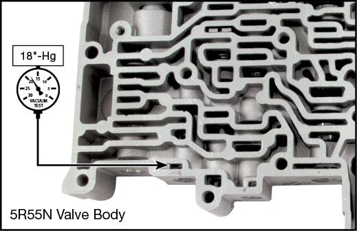 5R55N TCC Modulator Plunger Valve Kit Vacuum Test Locations