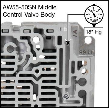 55-50SN, 55-51SN Boost Valve Kit Vacuum Test Locations