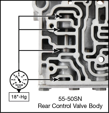 55-50SN, 55-51SN Oversized Secondary Regulator Valve Kit Vacuum Test Locations
