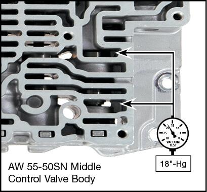 55-50SN, 55-51SN Oversized B4 Release Valve Kit Vacuum Test Locations