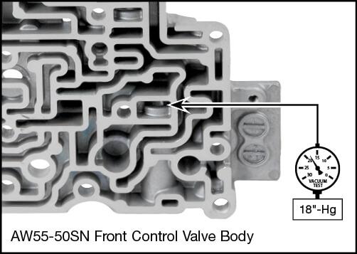 55-50SN, 55-51SN Oversized Solenoid Modulator Valve Kit Vacuum Test Locations