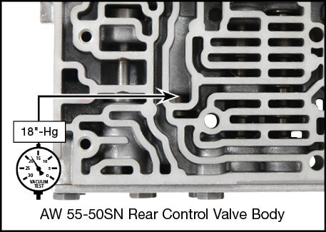 55-50SN, 55-51SN Shift Pressure Control Valve Kit Vacuum Test Locations