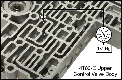 4T80-E AFL Valve Kit Vacuum Test Locations
