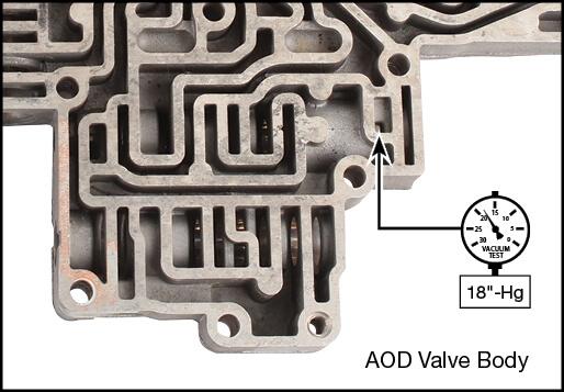 AOD Throttle Valve Plug Kit Vacuum Test Locations