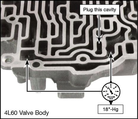 4L60 Throttle Valve Vacuum Test Locations