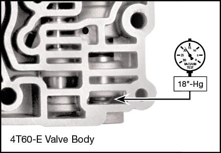 4T60, 4T60-E Reverse Boost Valve Kit Vacuum Test Locations