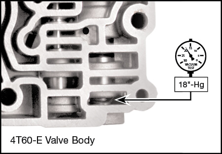 4T60, 4T60-E Reverse & Modulated Line Boost Valve Kit Vacuum Test Locations