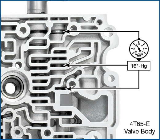 4T65-E TCC Regulated Apply Valve Kit Vacuum Test Locations