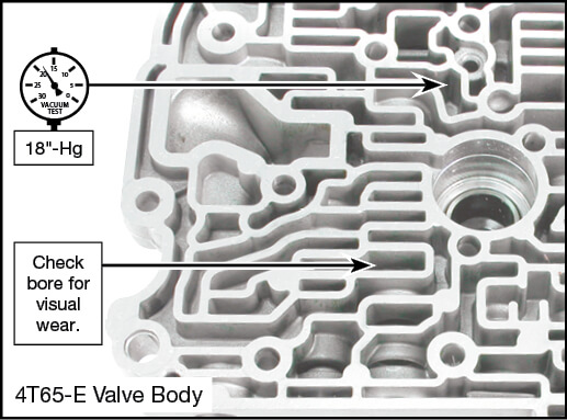 4T65-E Oversized TCC Apply Valve Kit Vacuum Test Locations