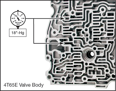 4T65-E Oversized 3-4 Accumulator Valve Kit Vacuum Test Locations