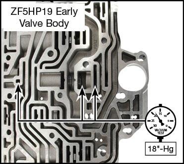 ZF5HP19 Oversized Pressure Regulator Valve Vacuum Test Locations