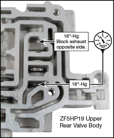 ZF5HP19 Oversized Pressure Reduction Valve Kit Vacuum Test Locations
