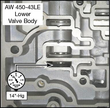 450-43LE Boost Valve Kit Vacuum Test Locations