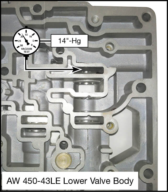 450-43LE Oversized Pressure Regulator & Boost Valve Kit Vacuum Test Locations