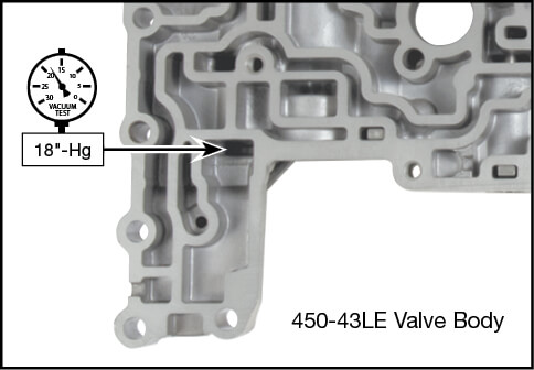 450-43LE Oversized Secondary Regulator Valve Kit Vacuum Test Locations