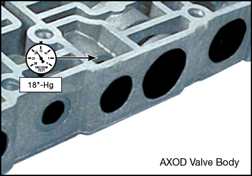 AXOD Bypass Clutch Control Plunger Valve Kit Vacuum Test Locations