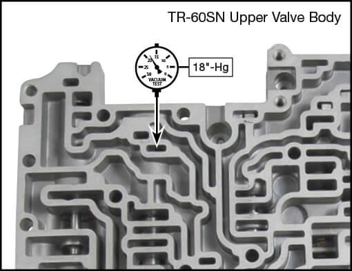 09D, TR-60SN Lockup Clutch Control Plunger Valve Kit Vacuum Test Locations