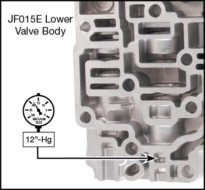 JF015E (RE0F11A) Torque Converter Lube Regulator Plunger Valve Kit Vacuum Test Locations