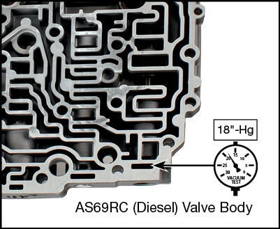 AS69RC Secondary Pressure Regulator Plunger Valve Kit Vacuum Test Locations