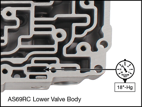 AS66RC, AS69RC B1/B2 Apply Control Plunger Valve Kit Vacuum Test Locations