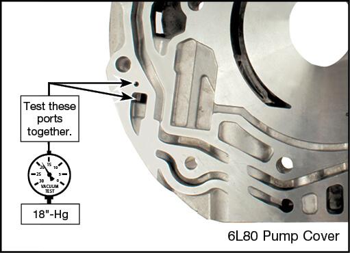 6L45, 6L50, 6L80, 6L90 Boost Valve Kit Vacuum Test Locations