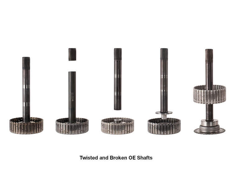 Twisted and broken oe shafts
