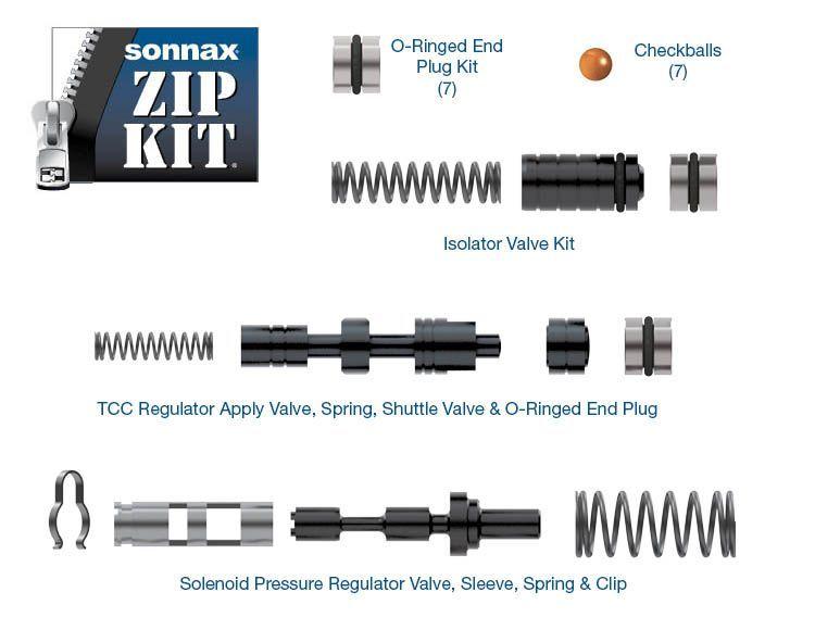 Pressure Regulator /& Sonnax 10452007K Valve Kit