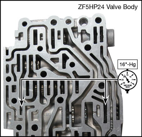 ZF5HP24, ZF5HP24A Oversized Pressure Regulator Valve Kit Vacuum Test Locations