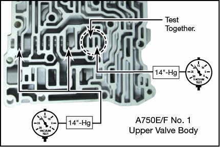 A750E, A750F, A760E, A760F, A760H, A761E, A960E, A960F, AB60E, AB60F Oversized Lockup Relay Valve Kit Vacuum Test Locations