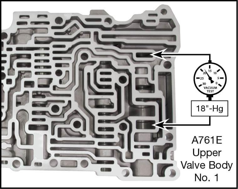 A750E, A750F, A760E, A760F, A760H, A761E, A960E, A960F, AB60E, AB60F Oversized Secondary Pressure Regulator Valve Kit Vacuum Test Locations
