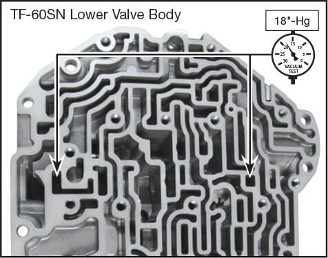 09G, 09K, 09M, 6F21WA, TF-60SN Oversized Pressure Regulator Valve & Boost Valve Kit Vacuum Test Locations