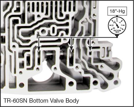 09D, TR-60SN Oversized Pressure Regulator Valve Kit Vacuum Test Locations