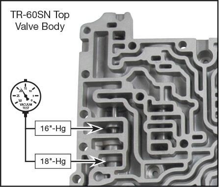 09D, TR-60SN Secondary Pressure Regulator Valve Kit Vacuum Test Locations