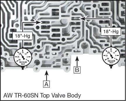 09D, TR-60SN Solenoid Modulator Valve Kit Vacuum Test Locations