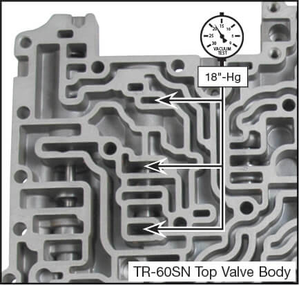 09D, TR-60SN Lockup Clutch Control Valve Kit Vacuum Test Locations