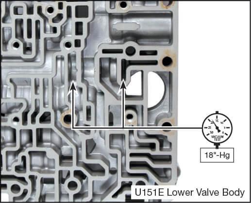 U151E, U151F, U250E Oversized Pressure Regulator & Boost Valve Kit Vacuum Test Locations