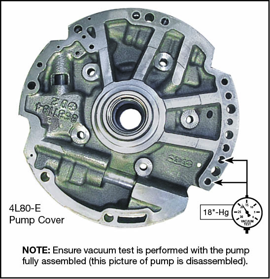 4L80-E, 4L85-E Boost Valve Kit Vacuum Test Locations