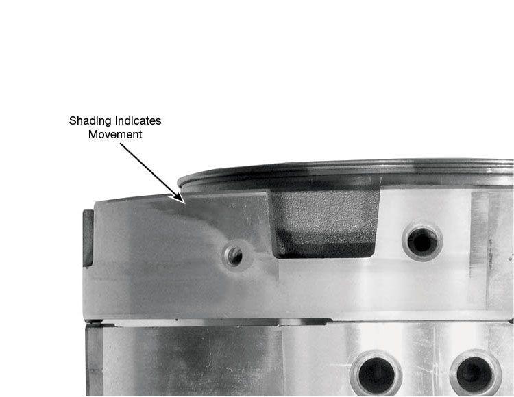 4R100, E4OD Intermediate & Direct Clutch Feed Seal Kit Vacuum Test Locations