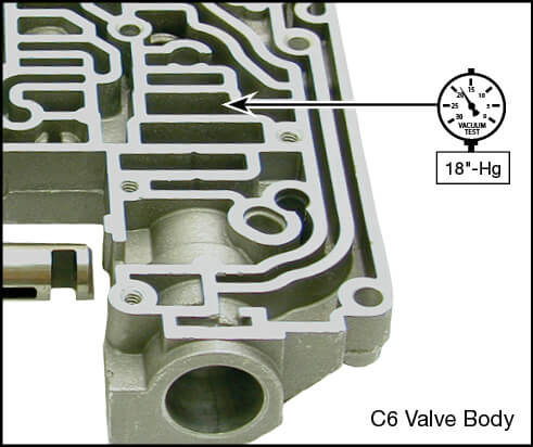 C6 Oversized Pressure Regulator Valve Vacuum Test Locations